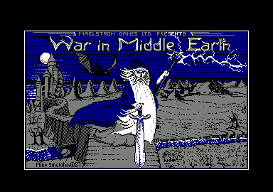 J.R.R. Tolkien's War in Middle Earth Amstrad CPC Loading screen