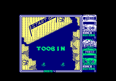 Toobin' Amstrad CPC The starting line.