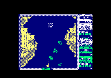 Toobin' Amstrad CPC I snagged a branch in the water.