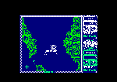 Toobin' Amstrad CPC In the jungle. Don't get shot by the snipers.