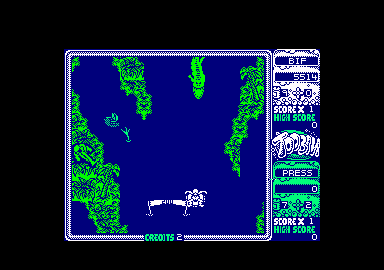 Toobin' Amstrad CPC Oh, my! Is that a crocodile?