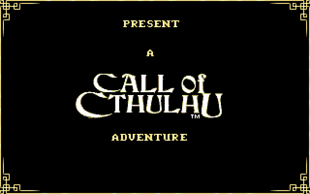 Call of Cthulhu: Shadow of the Comet PC-98 ...presents a Call of Cthulhu adventure...