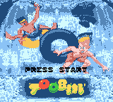 Toobin' Game Boy Color Title screen