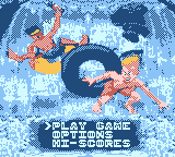 Toobin' Game Boy Color Main menu