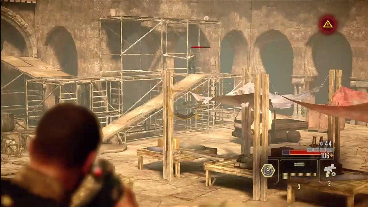 Alpha Protocol Xbox 360 I like enemies that are just standing there waiting for me to align the headshot...