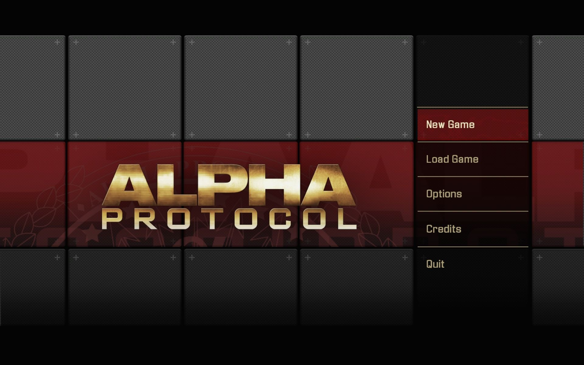 Alpha Protocol Windows Main Menu