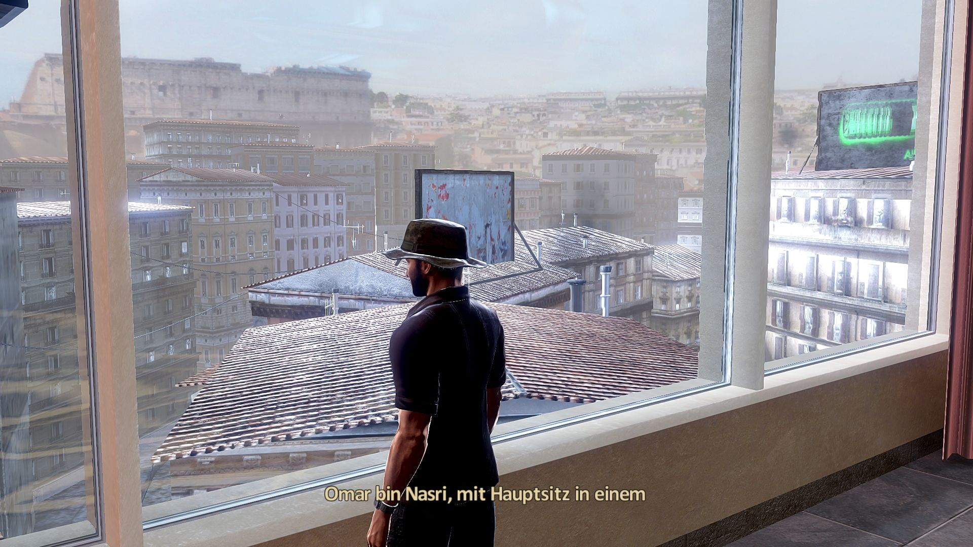 Alpha Protocol Windows Looking out the window of the safehouse in Rome.
