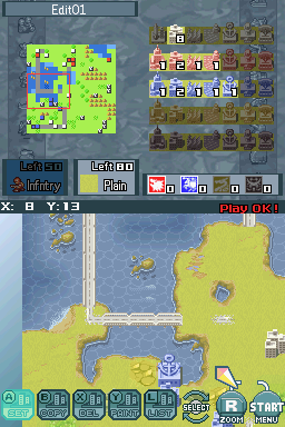 Advance Wars: Days of Ruin Nintendo DS In the design room, you can put together your own map to use in single play.