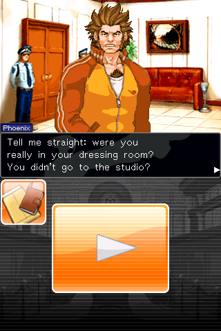 Phoenix Wright: Ace Attorney iPhone Actor Will Powers, looks like Hugh Jackman if you ask me.