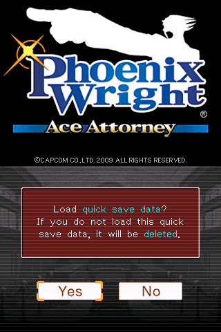 Phoenix Wright: Ace Attorney iPhone This game has quick save feature, which is handy if you play in smaller sessions during the bus ride e.t.c.