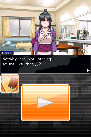 Phoenix Wright: Ace Attorney iPhone Probably because he hasn't ever seen a girl before.