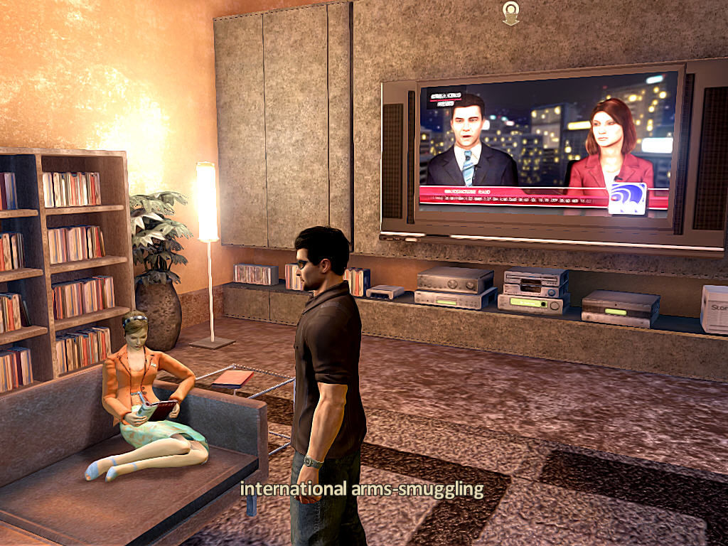 Alpha Protocol Windows High-resolution TV, nice couch, a sexy girl on it... is life good or what?..