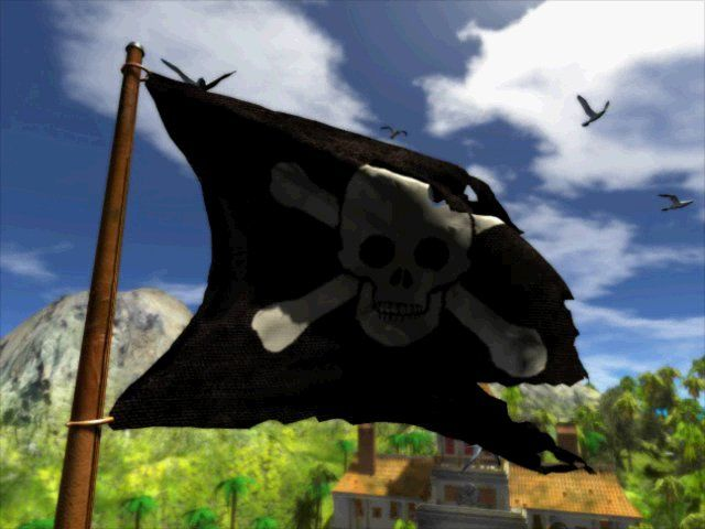 Tropico 2: Pirate Cove Windows Intro: Pirates flag.