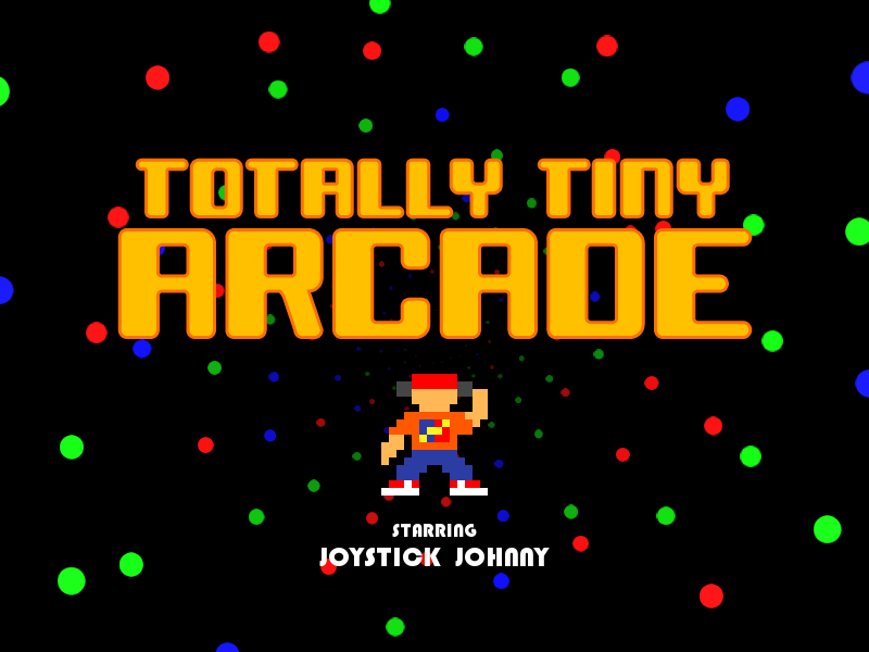 Totally Tiny Arcade Windows Title screen