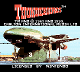 Thunderbirds Game Boy Color Title screen