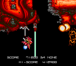 BlaZeon SNES The bio-ship starts breaking apart into meaty chunks.