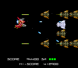 BlaZeon SNES Only time in the game this enemy shows up, but when they get into formation they will blanket the screen with lasers.