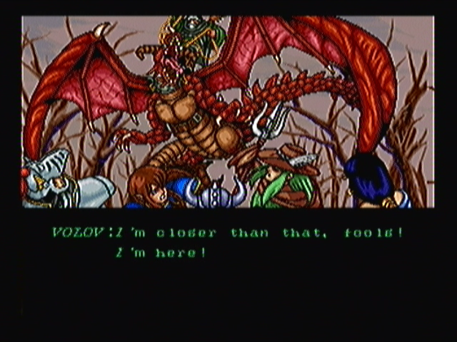 Wizard Fire Zeebo First stage cutscene: did they really need him to warn them about his presence. I mean, he's riding a friggin' dragon!