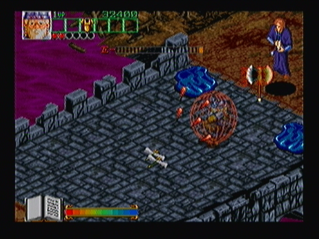 Wizard Fire Zeebo The second stage boss appears in the middle of it and summons water blobs. With the armor, the character becomes invulnerable for a few hits.