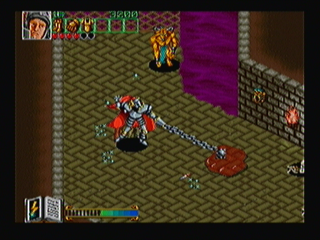 Wizard Fire Zeebo The knight using his flail. The blue glow that can be seen near it shows that his attack was fully charged.