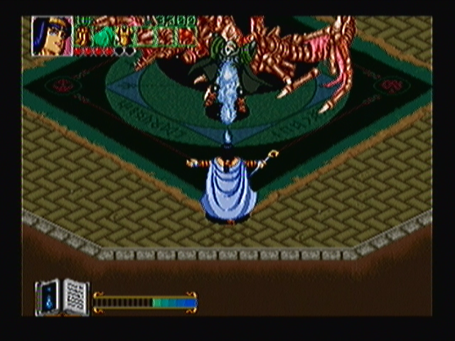Wizard Fire Zeebo The Wizard fights Volov again, now riding a skeleton dragon.