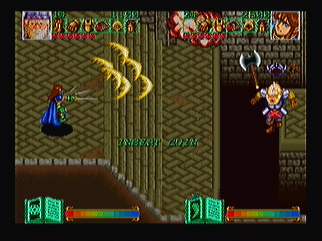 "Wizard Fire Zeebo Two players gameplay shown as demonstration. The arcade game wasn't changed so you still see the ""insert coin"" message flashing while the game is demonstrated."