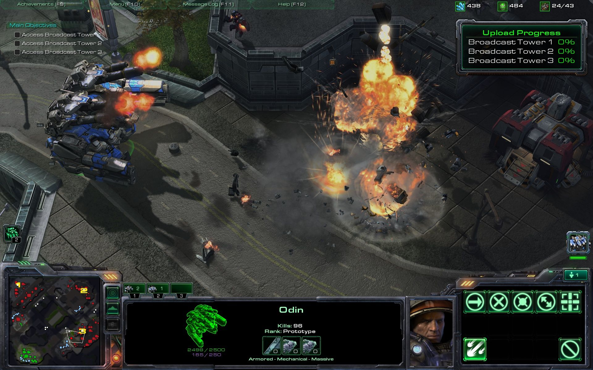 StarCraft II: Wings of Liberty Windows Odin is a very powerful unit which can destroy almost anything in a matter of seconds.