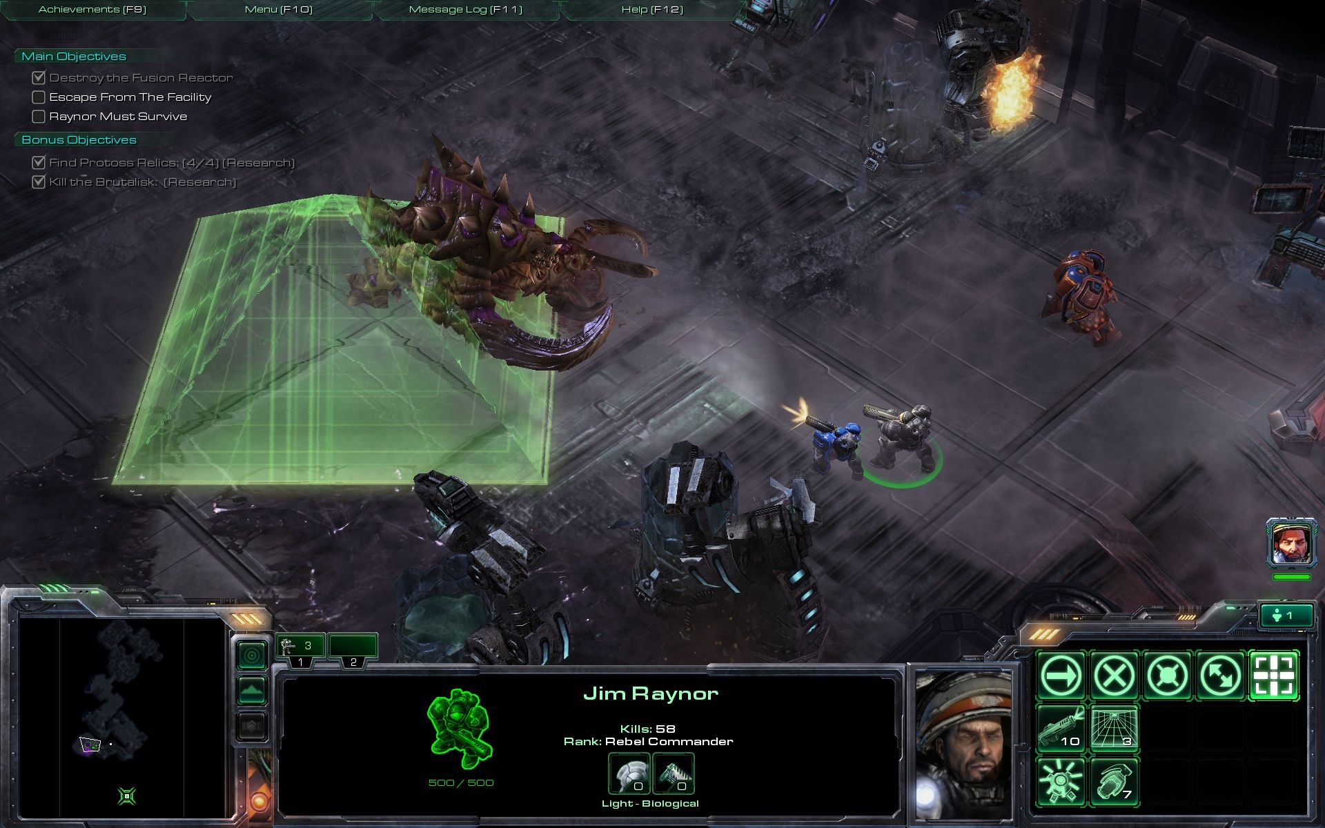 StarCraft II: Wings of Liberty Windows The big guy is slowed down by my tachyon-field or whatever it is called