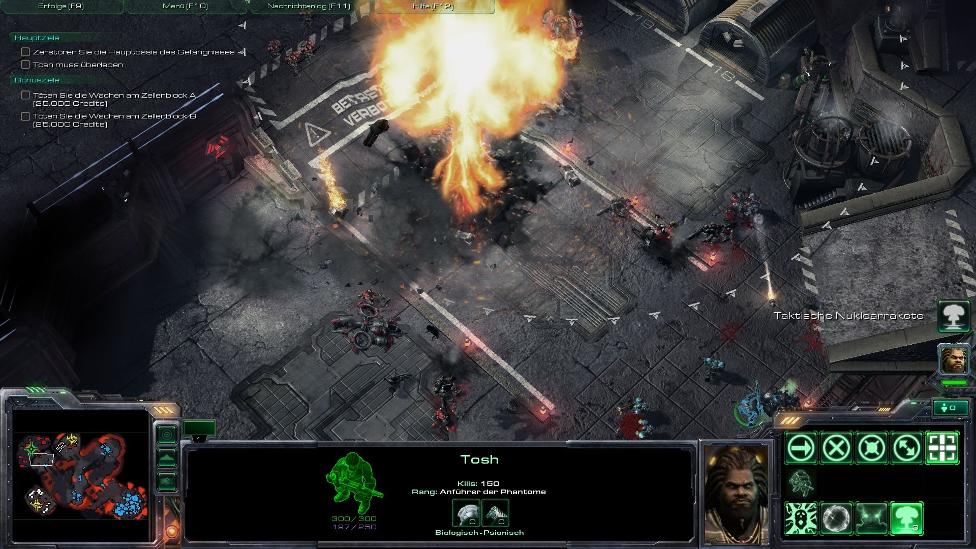 StarCraft II: Wings of Liberty Windows Tactical nuke detonated!