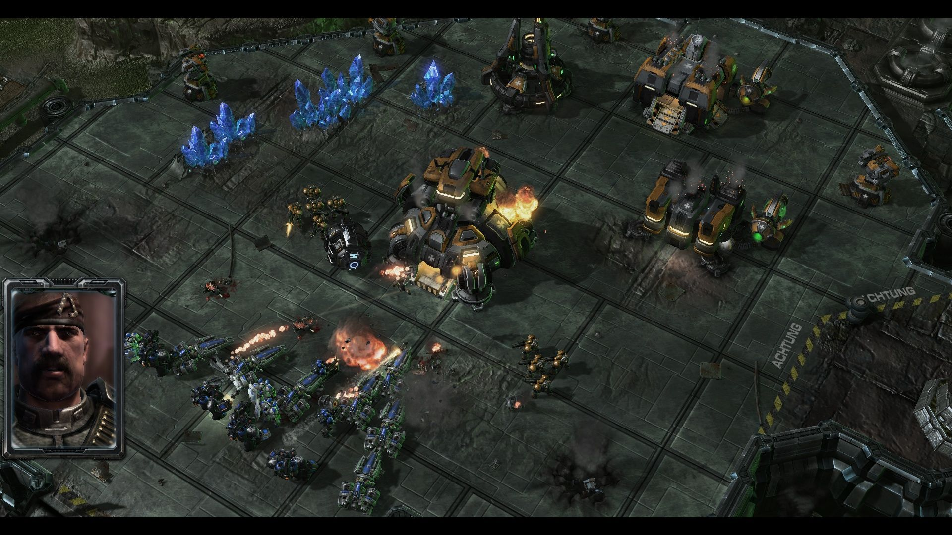 StarCraft II: Wings of Liberty Windows I guess the enemy headquarters are destroyed.