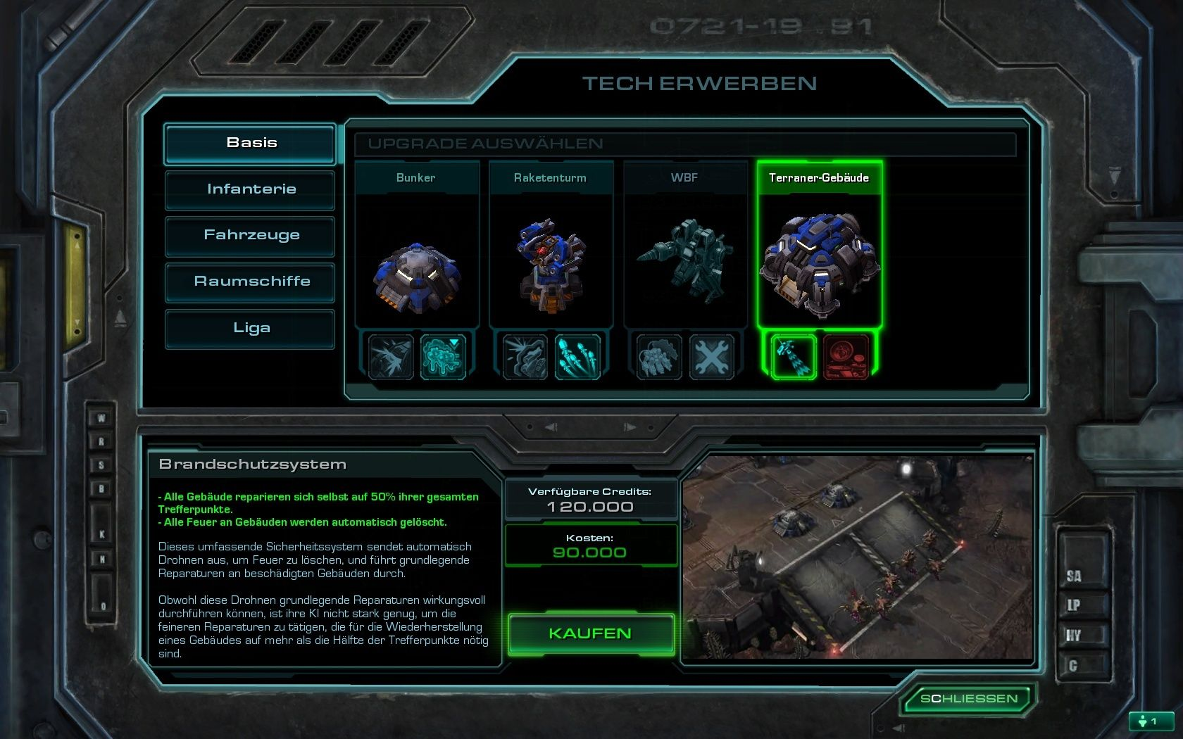 StarCraft II: Wings of Liberty Windows Looking for upgrades for my troops.