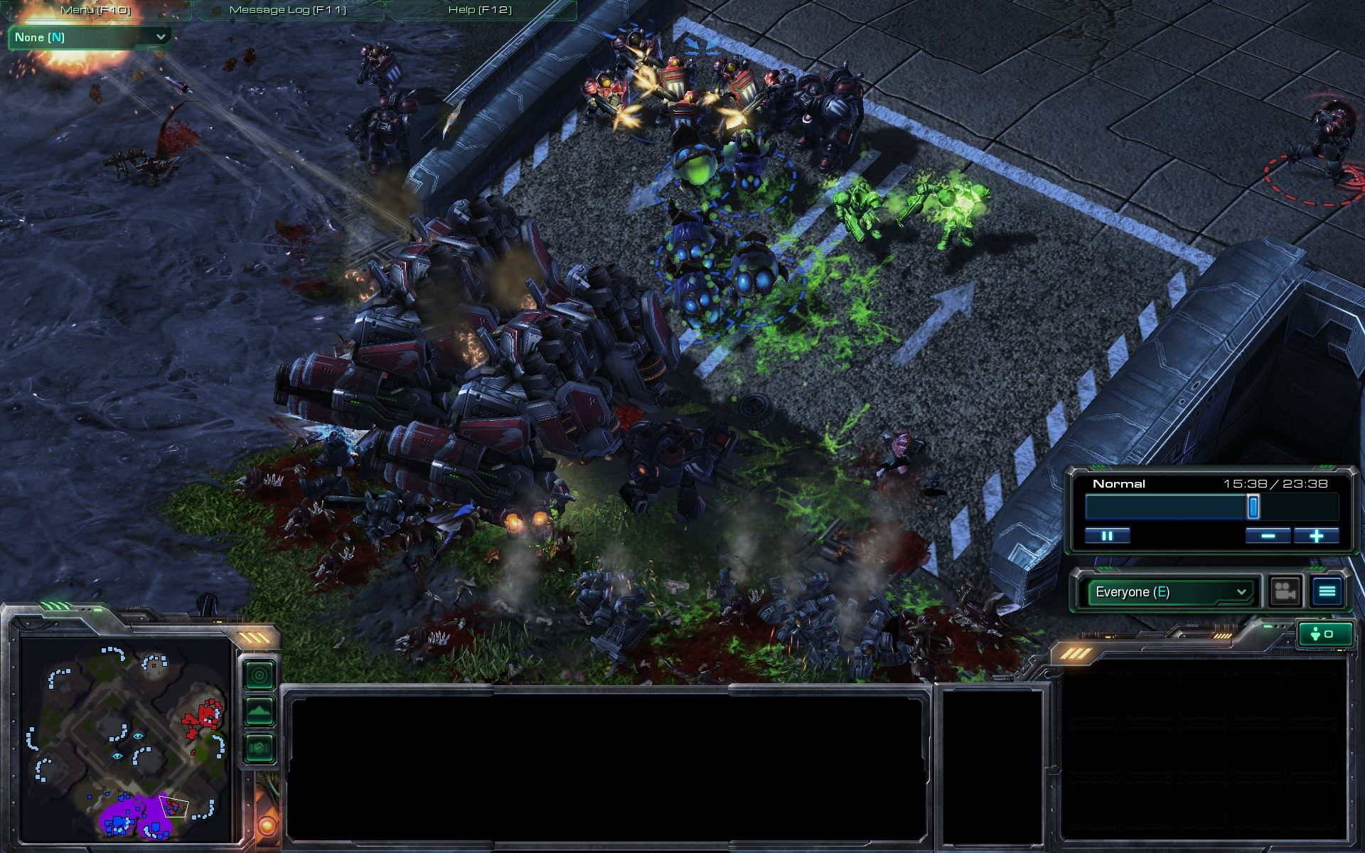 StarCraft II: Wings of Liberty Windows Multiplayer: The final battle is near, leaving blood everywhere.