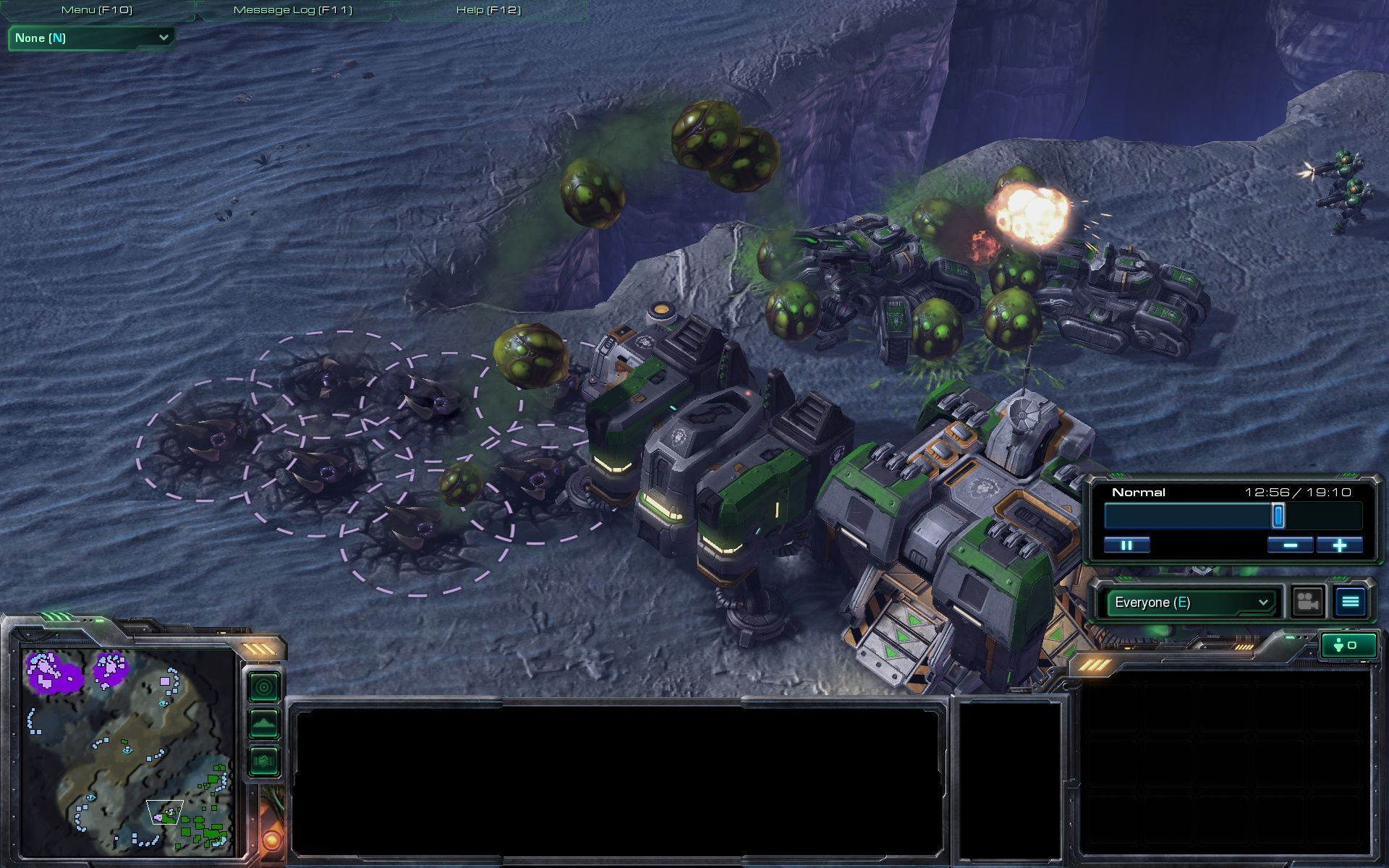 StarCraft II: Wings of Liberty Windows Multiplayer: The Zerg have some really sneaky units.