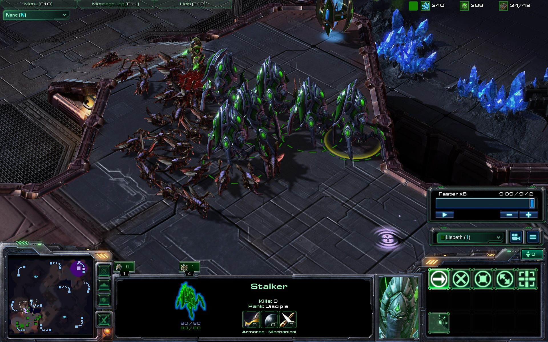 StarCraft II: Wings of Liberty Windows Multiplayer: The Zerglings are once again very powerful even against bigger units,