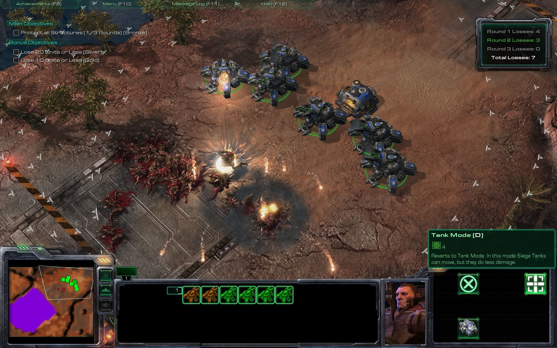 StarCraft II: Wings of Liberty Windows Challenges: The challenges are used to prepare you for multiplayer.