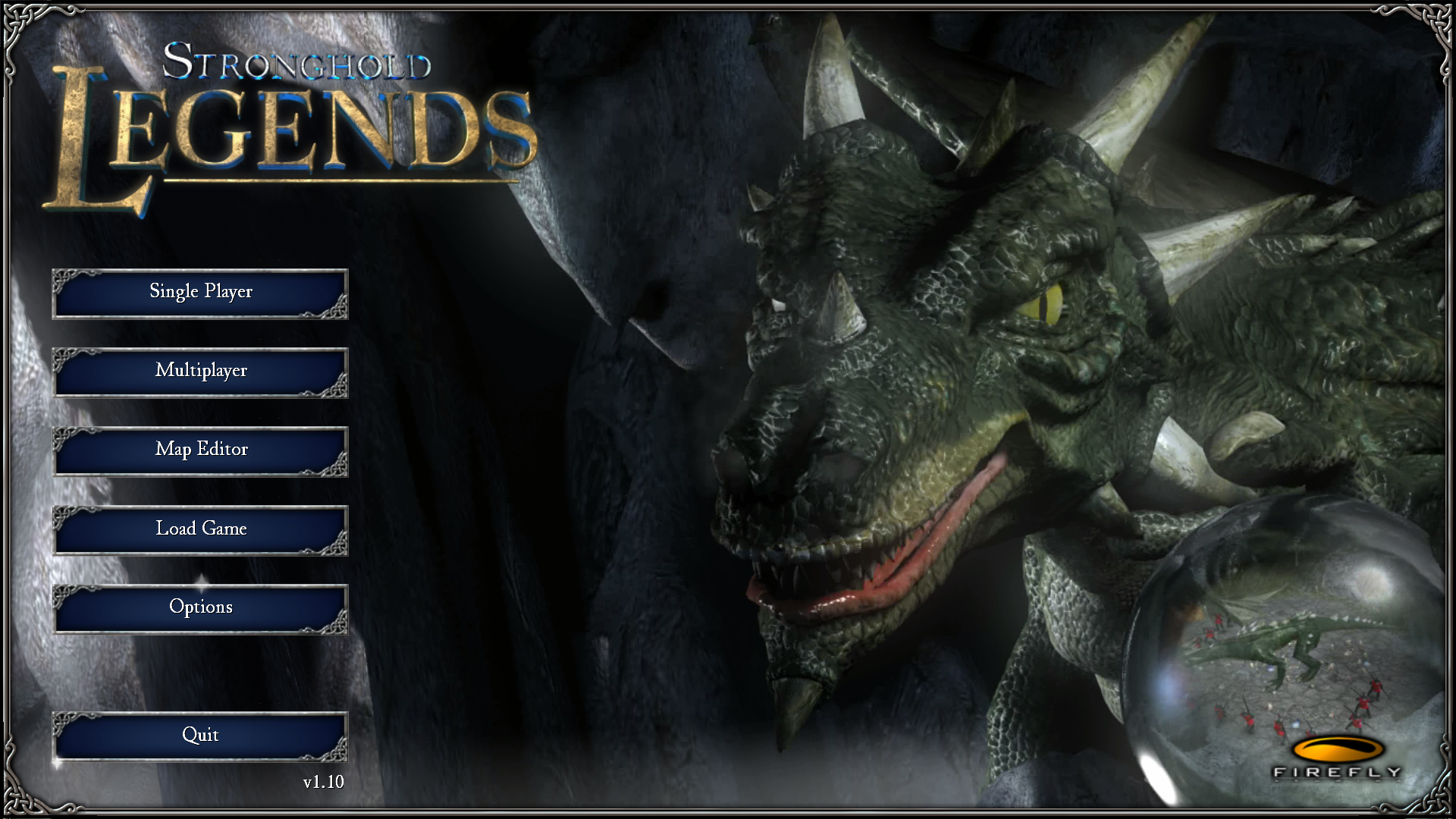 Stronghold Legends Windows The Main Menu