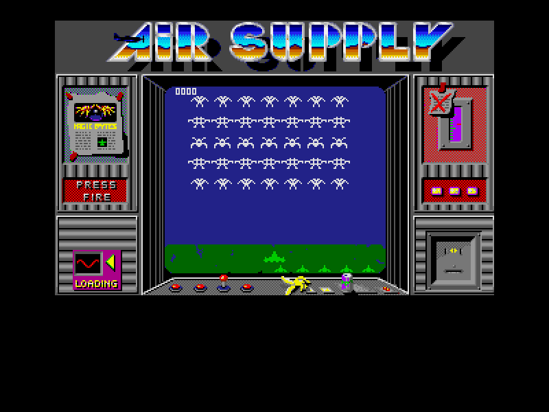 Amiga Classix 4 Windows Area action: Air Supply, Start screen