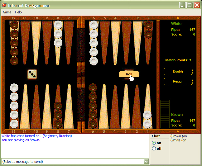 windows backgammon
