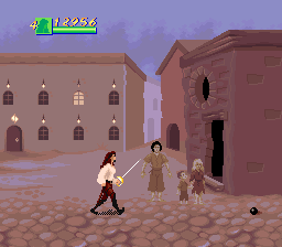 Cutthroat Island SNES Now who would just leave a bomb laying out in the street like that?