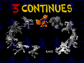 Brutal: Above the Claw SEGA 32X Continue Screen