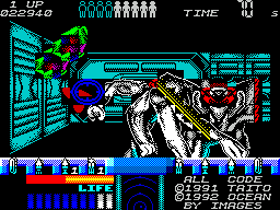 Space Gun ZX Spectrum These aliens slash at you draining your health.