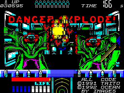 Space Gun ZX Spectrum The aliens have overrun your ship and you must fight them in a very enclosed space.