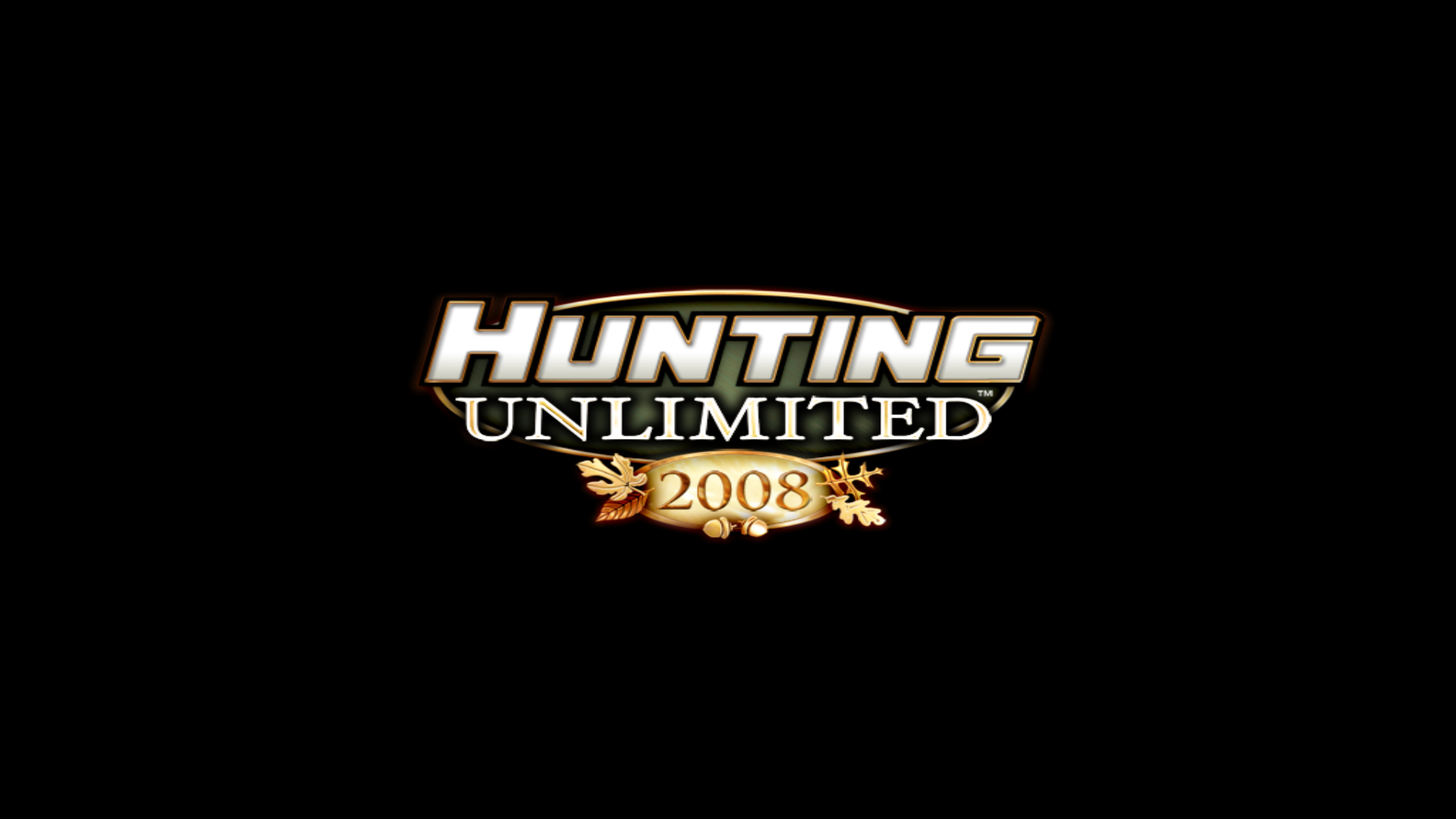 Hunting Unlimited 2008 Windows Title screen