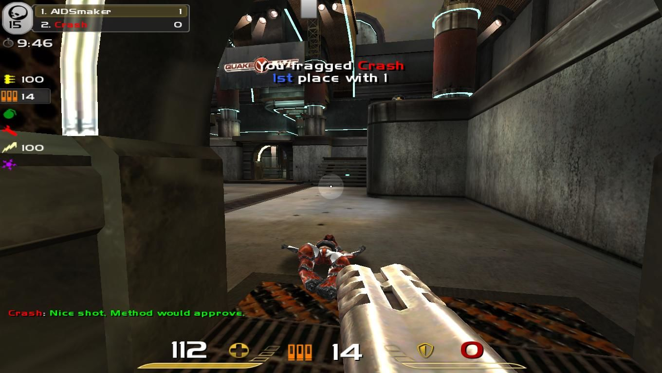 Quake: Live Browser Gunned her down!