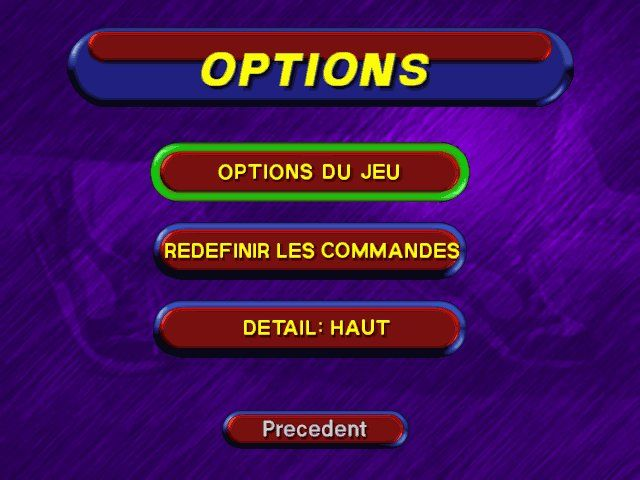 3DO Games: Decathlon Windows Option Screen
