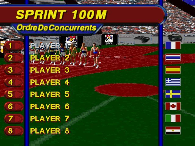 3DO Games: Decathlon Windows Presentation of the 100m Sprint