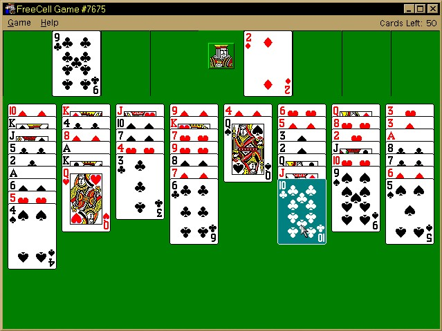 Microsoft Freecell Game