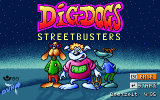 Dig-Dogs: Streetbusters DOS Animated title screen