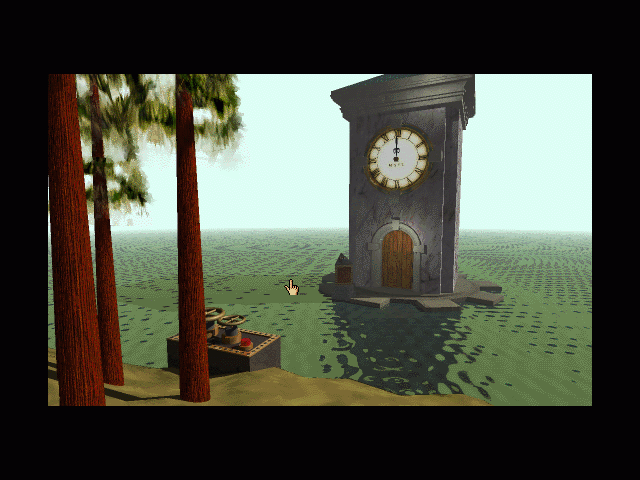 Myst Macintosh Controls and Clock Tower