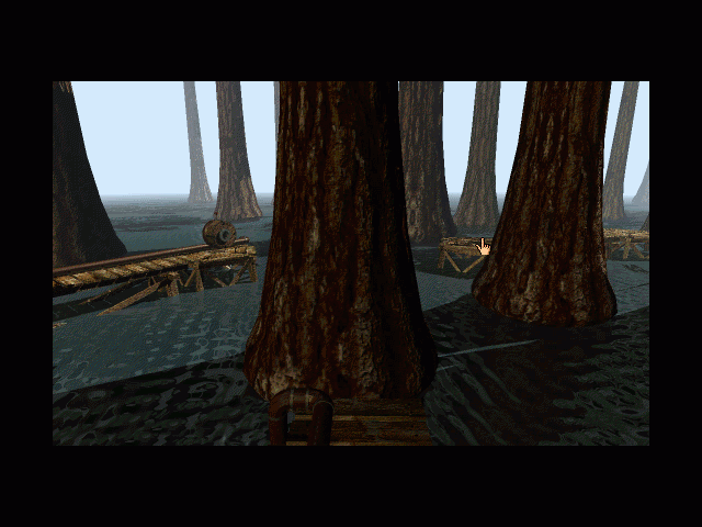 Myst Macintosh Arrival in Channelwood hear the frogs